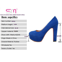 Big size 32-43 Thick High Heels Pumps