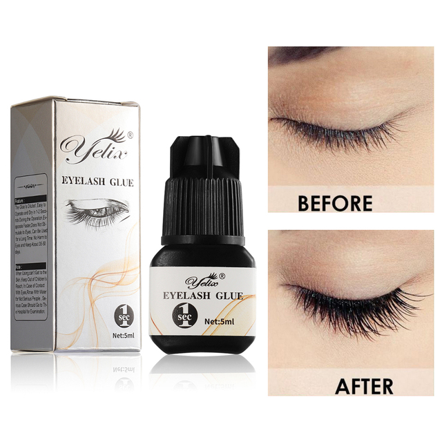 Fake Eyelash Glue 1 2 Second Black Adhesive For False Eyelashes