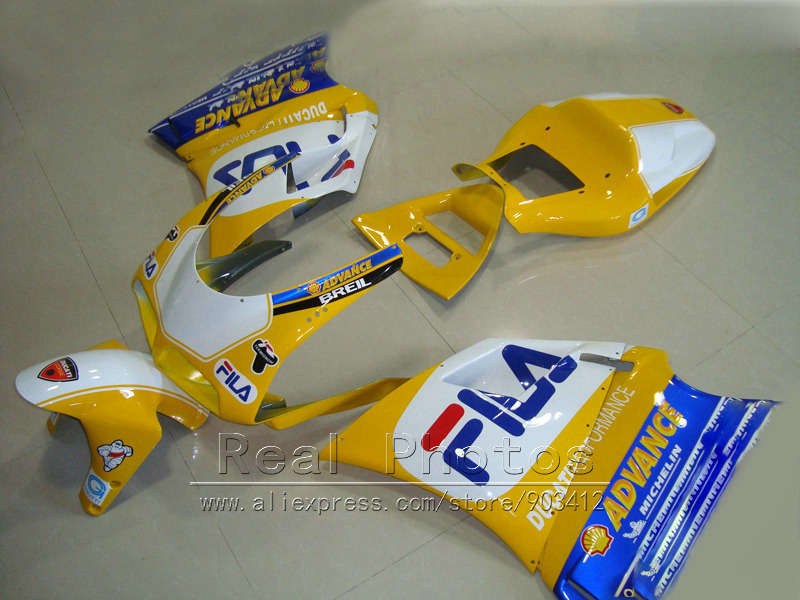 Injection mold fairing kit for Ducati 748 916 996 998 93 94 95 96-05 yellow white blue motorcycle fairings 1993-2005 HR02 hot sales 100% fitment fairing for honda nsr250r mc21 90 91 92 93 1990 1993 nsr 250 r rothmans fairings injection molding