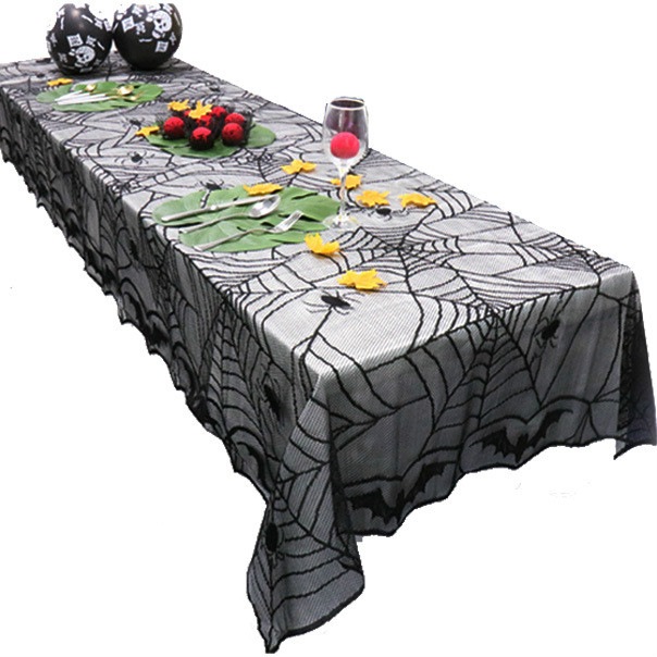 Ordinaire A 122*244CM Helloween Tablecloths Halloween Black Lace Cloth Tablecloth  Spider Bat Halloween Tablecloth X920 3 In Tablecloths From Home U0026 Garden On  ...