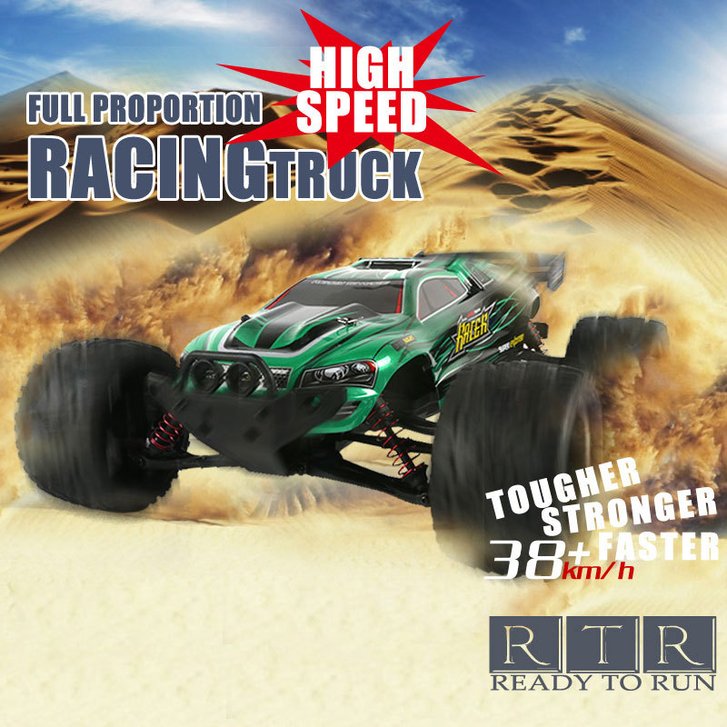 Hot Big RC Car 9116 1/12 2WD Brushed High Speed Monster Truck RTR 2.4GHz Good Childrens Toy