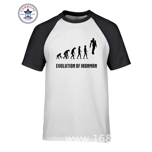 21ce08ac4 New Summer Funny Tee Alliance Iron Man Evolution Superhero Ironman Cotton T  Shirt men o-neck print short sleeve top tee