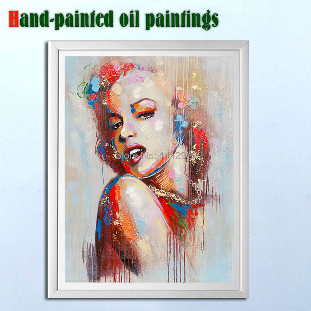 Lienzo pintado a mano Pop Art Marilyn Monroe pinturas para ...