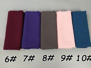 Image 3 - H65 100 шт хит продаж шифоновый хиджаб, мусульманский шарф, лучшая шаль 180*75 см можно выбрать цвета