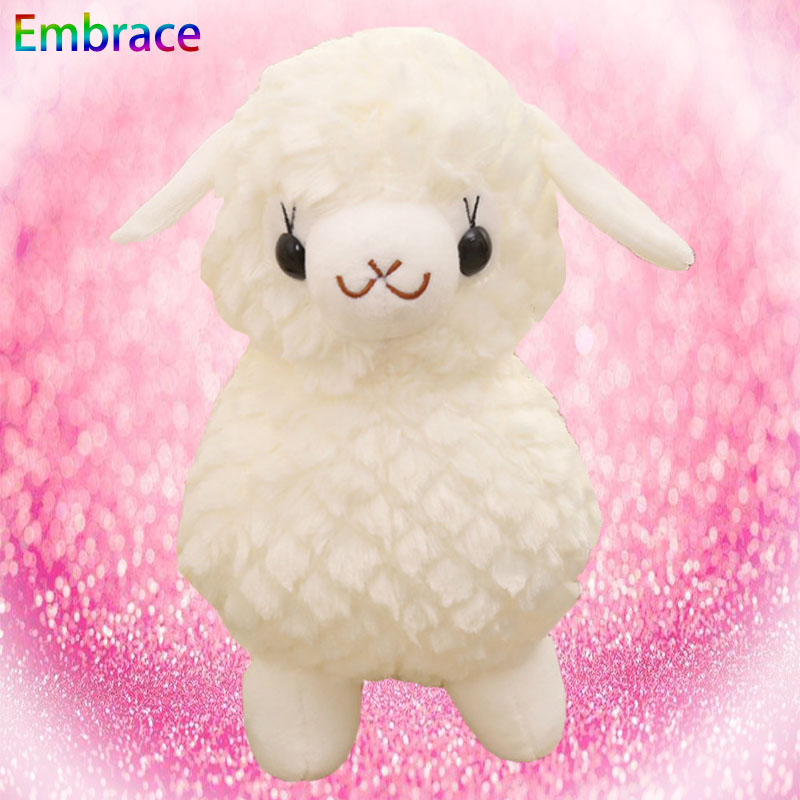 Stuffed animals plush white smile stand sheep cute stuffed soft fluffy toys animal baby girlfriend birthday gift forest animals