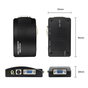 Image 2 - Adaptador av para vga, caixa de interruptor, adaptador de pc laptop, composto, vídeo av s video rca para pc, laptop, vga tv conversor