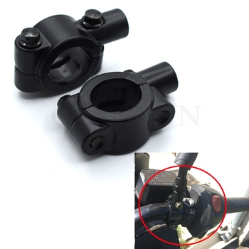 Universal Motorcycle 7/8 Handlebar Rearview Mirror Holder Mount Adapter Clamp For BMW K1600 K1300 K1200R K1200S R1200RT R1200ST image