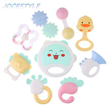 Baby Rattles Mobiles Teether Toys Infant Music Lovely Infant Music Hand Shake Bed Crib Educational Toy Gift Hand Shake Bell Ring(China)