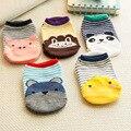 Crianças bebê Meias de Algodão Respirável Meias Bonito Dos Desenhos Animados Animal Impresso Anti-slip Socks Para 0-6 T Crianças