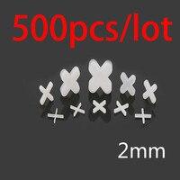 500 pcs 타일 스페이서 크로스 플라스틱 2mm 타일링 세라믹 타일러 배관공 화이트 크로스 클립 타일 레벨링 시스템
