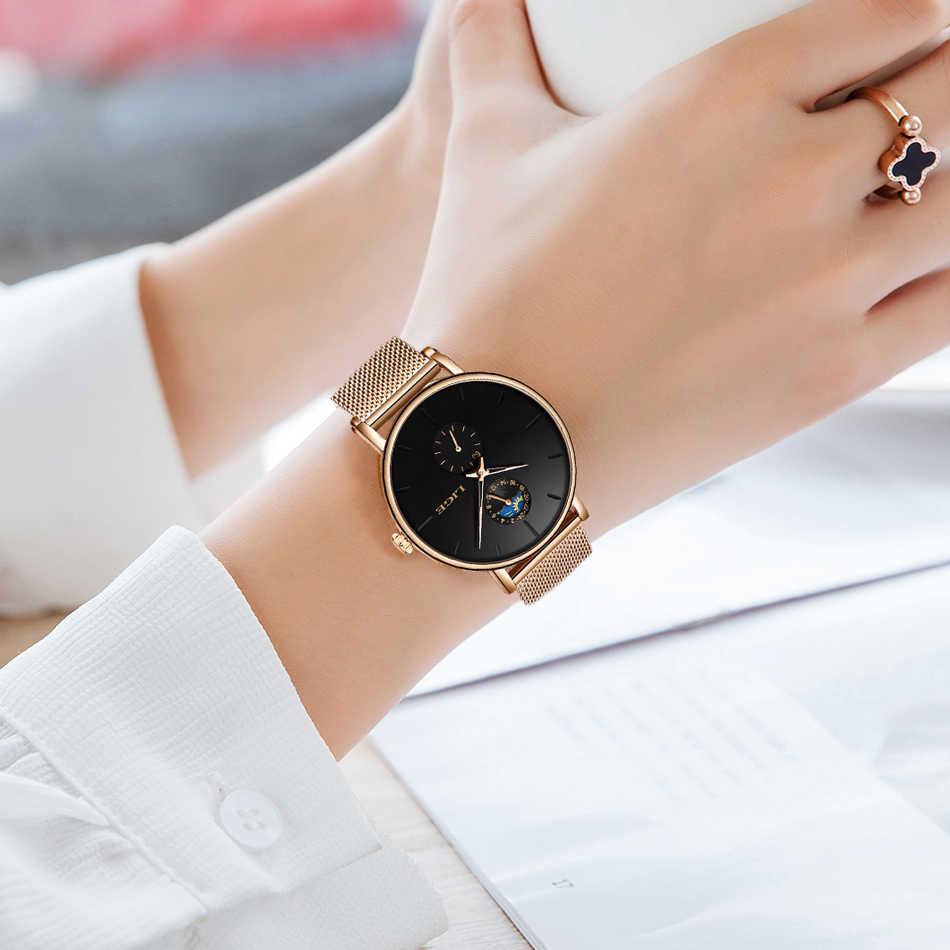 2019 neue LIGE Frauen Luxus Marke Uhr Einfache Quarz Dame Wasserdichte Armbanduhr Weibliche Mode Casual Uhren Uhr reloj mujer