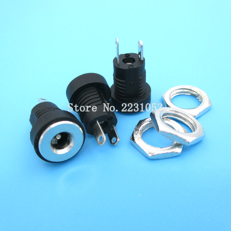 10PCS/LOT 3.5*1.3MM DC Power Outlet In The DC-022B Jack All-copper Material Charging Socket Connector DC022B
