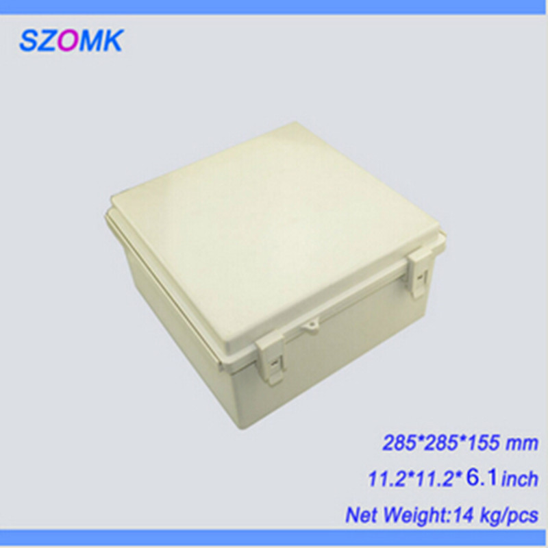 1 piece, good quality electronics plastic waterproof enclosure, 285*285*155mm abs plastic enclosures electric junction box 1 piece high quality abs plastic junction box ip68 waterproof level circuit housing led power supply enclosure 238 84 60 mm