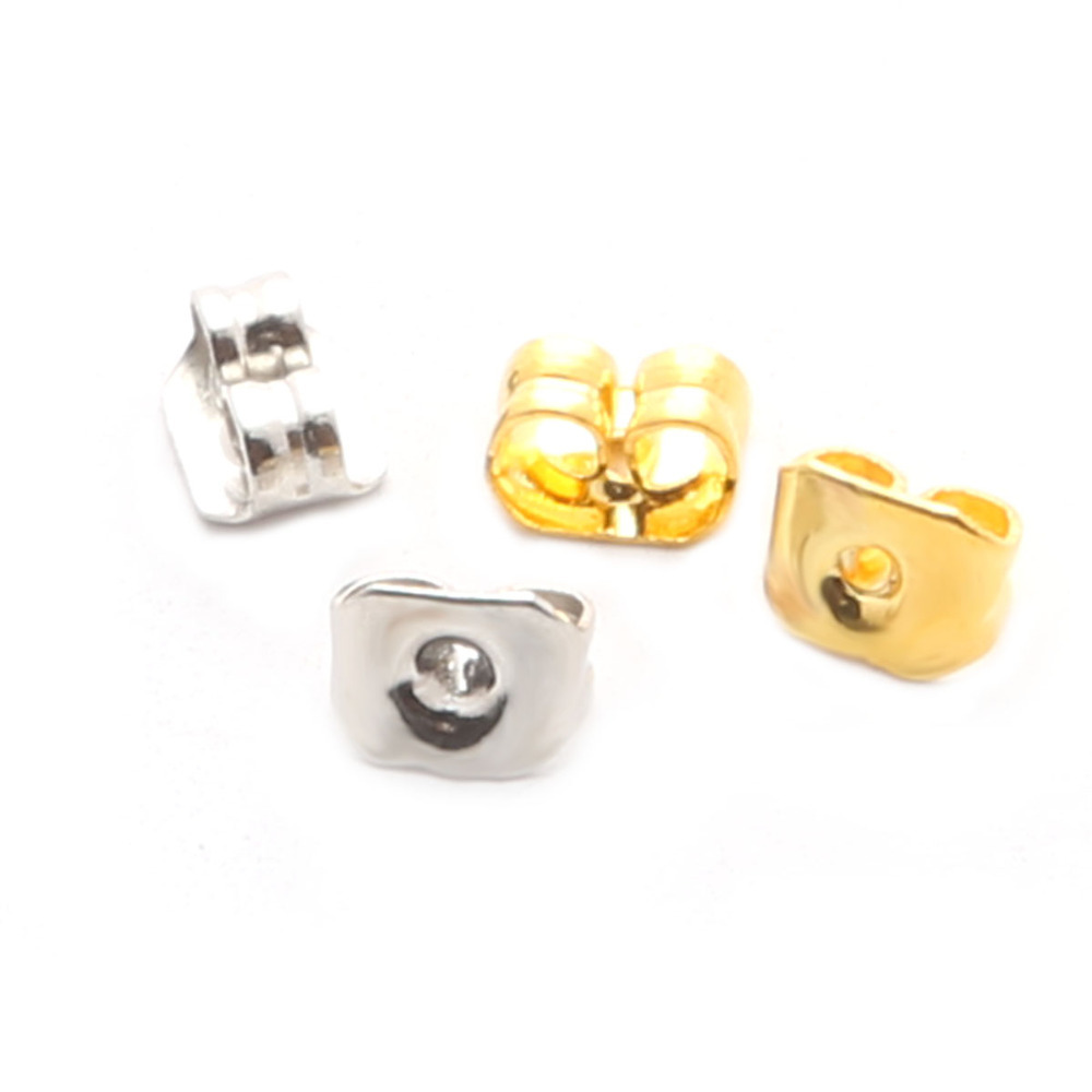 High Quality Stud Earring Findings Lot Silver plated 16K Gold plated stopper