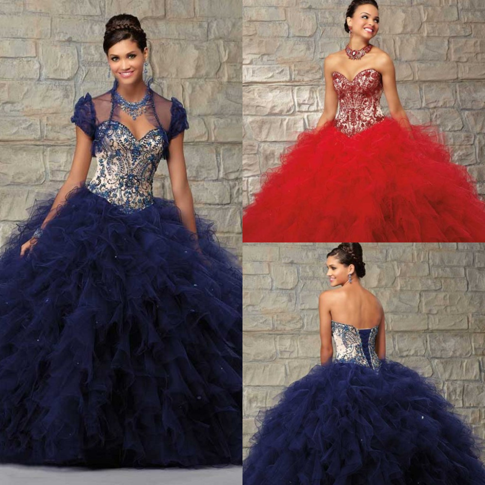 Aliexpress.com : Buy Royal Blue Yellow Red Quinceaneras Dresses ...