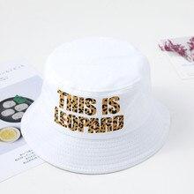 New Leopard Embroidery Fisherman Caps For Men Women Unisex Outdoor Summer Street Hip-Hop Cotton Fishing Panama Children