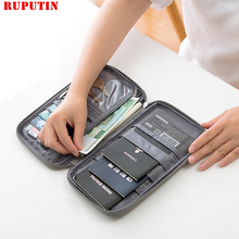 RUPUTIN Brand Passport Covers Holder Card Package Credit Card Holder Wallet Organizer Travel Accessories Document Bag Cardholder