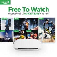 Vente chaude! Q9 TV Smart Box Android 1G 8G Europe Arabe 1300 Canaux QHDTV Code Abonnement Italia Turc Français IPTV Top Box