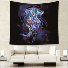 Beautiful Jellyfish Tapestry Lion Animal Printed Wall Hanging Tapestries Indian Hippie Home Decoration 150x130cm GT5