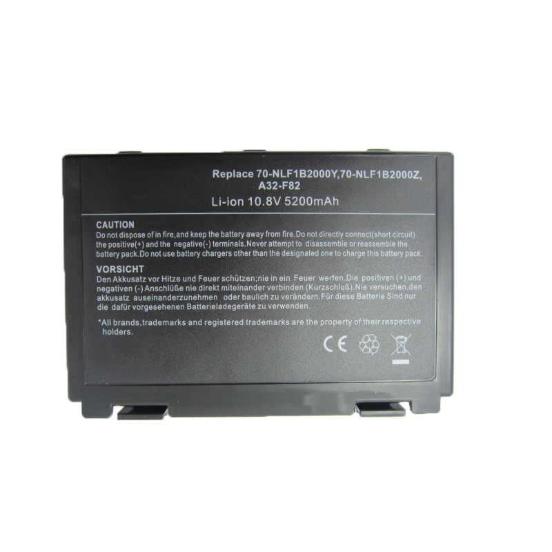 HSW 6 Sel Baterai untuk ASUS A32-F82 A32-F52 A32 F82 F52 K50IJ K50 K51 K50AB K40IN K50ID K50IJ K40 K42 k42J K50IN K60 K61 K70