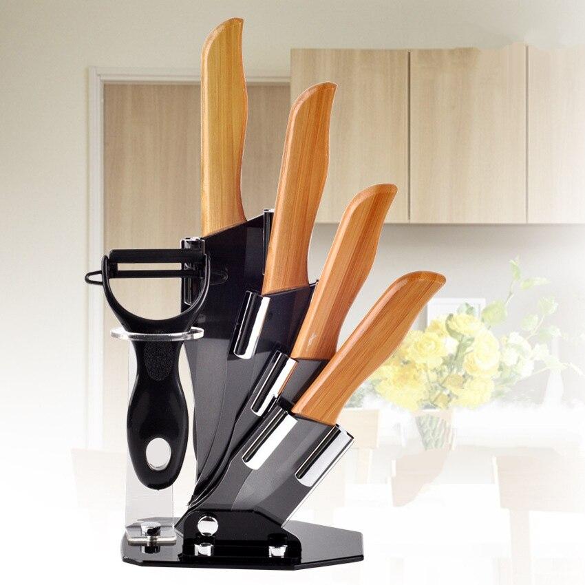 Kitchen six sets of ceramic font b knife b font and fruit font b knife b