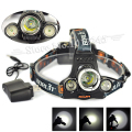 Hot Sale Boruit 5000 Lumen 3LED Headlight XM-L T6+2R5 LED Head Torch 4-Mode Lantern Headlamp Flashlight Camping Light+AC Charger