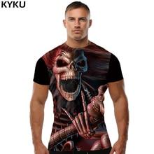 KYKU Brand Skull T-shirt Funny T Shirts 3D Shirt Men Clothes Short Sleeve Mens Clothing Summer Casual Wear 2018