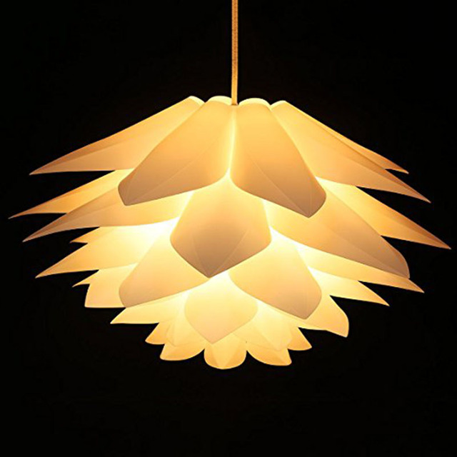 Diy Puzzle Lotus Flower Lamp Lampshade Ceiling Pendant Lights