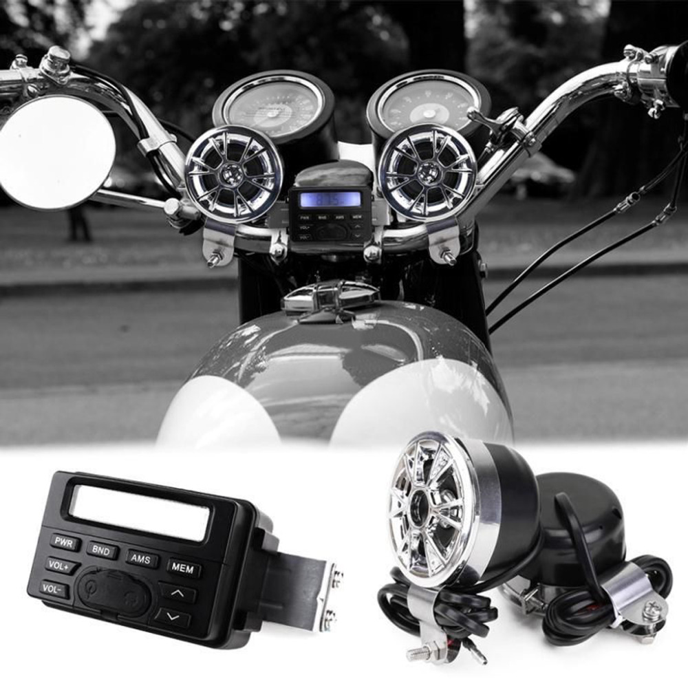 motorcycle sound audio radio system handlebar 12v full band fm rh aliexpress com adveise motorcycle radio wiring diagram motorcycle wiring for dummies [ 1000 x 1000 Pixel ]