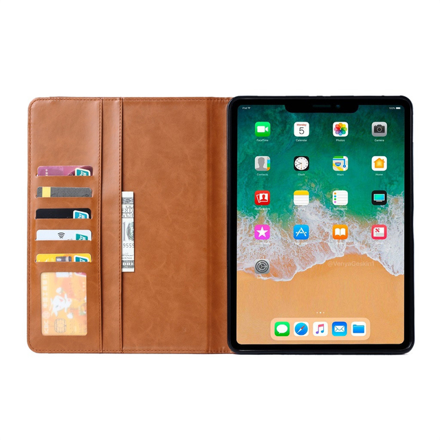 CARPRIE 2019 Release Folio Leather Wallet Card Stand Cover Case For iPad Pro 11 Inch