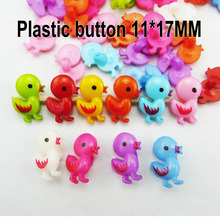 100PCS butterfly button Dyed Plastic duck  buttons coat boots sewing clothes accessory P-188