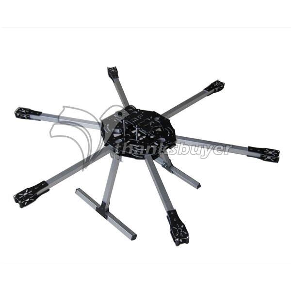 ФОТО MF-830 830mm Fiberglass Folding Hexacopter Frame Kit w/Landing Gear X4 Y6 X8 Flight Compatible