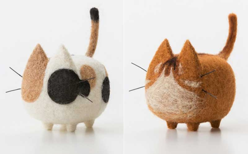 2 pcs Non-finished Accessories Felt Poke DIY No Faceless Dogs tiger cat Material