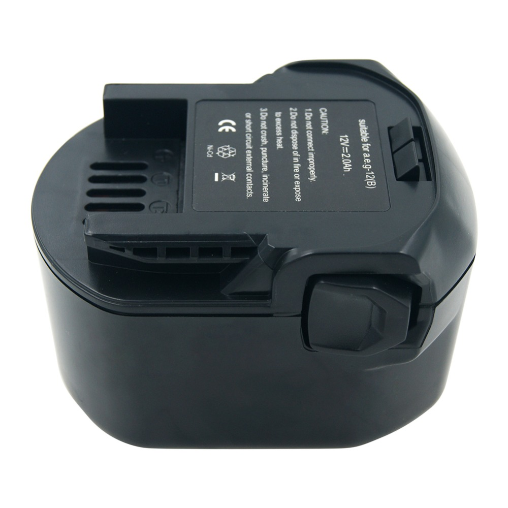 lerronx 12v 2 0ah ni cd rechargeable battery for aeg ridgid cordless on rothenberger 12v battery  [ 1000 x 1000 Pixel ]