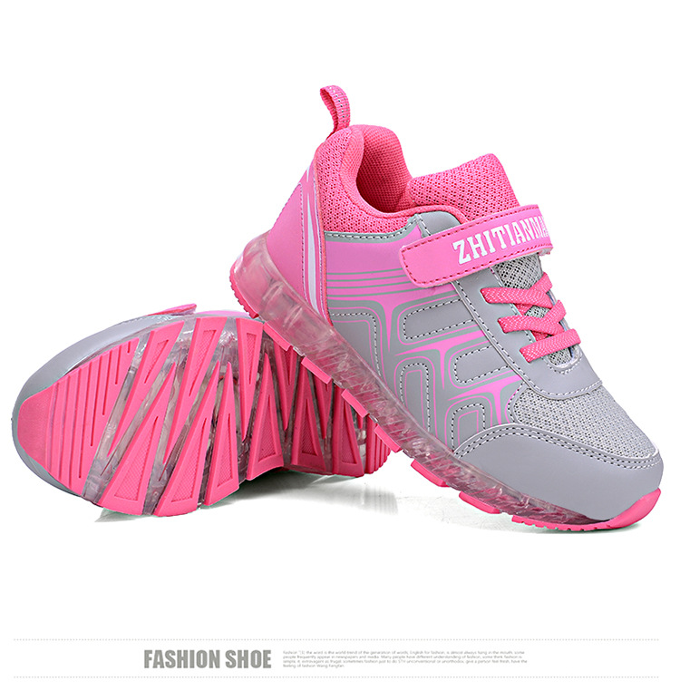 New Spring and Autumn Winter Children Luminous Leisure Shoes Boys and Girls Led USB Rechargeable Sports Shoes Students Shoes YXX