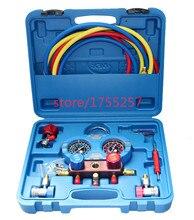Manómetro de refrigerante, manómetro de presión de alta calidad, manómetro a prueba de golpes, herramienta de refrigerante para aire acondicionado