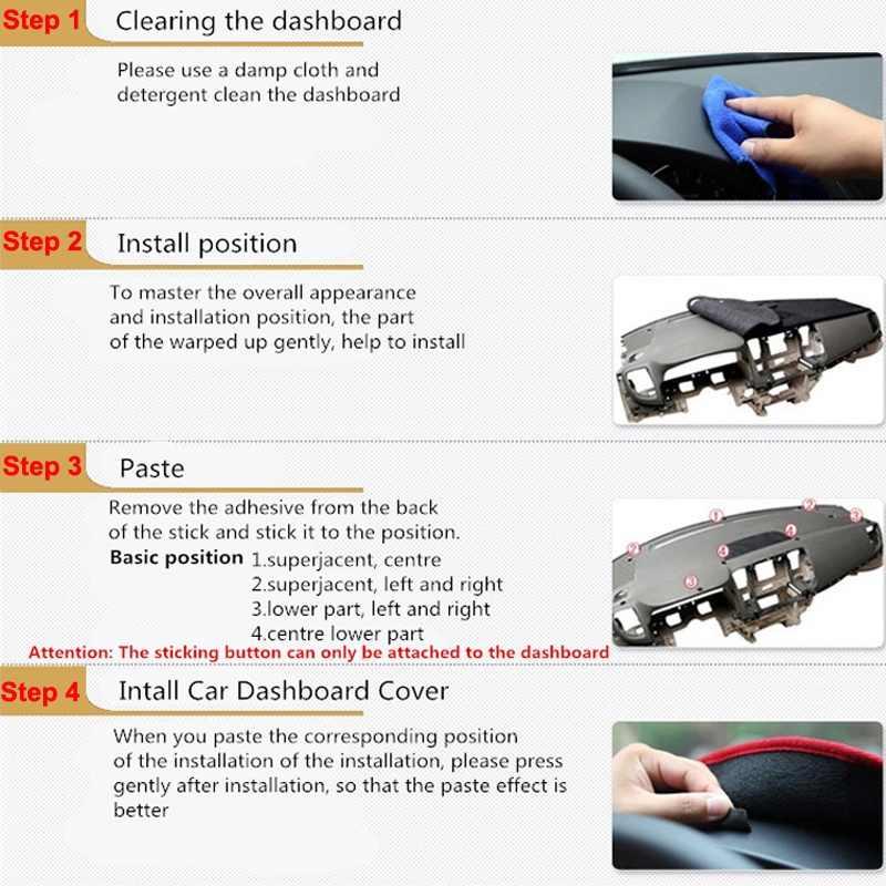 Auto Mobil Dashboard Cover Dash Mat Dash Board Pad Karpet Dashmat Anti Sinar UV Tikar untuk Toyota Avensis 2005 2006 LHD RHD mobil Styling