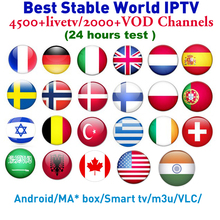 X96 Android tv box Best World IPTV Subscription HD France Arabic Europe Sweden Spain Canada English UK Lation Indian Turkey tv(China)