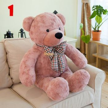 Fancytrader New Style Teddt Bear Toy 51'' 130cm Big Giant Stuffed Plush Cute Teddy Bear, Valentine's Day Gift 4 Colors FT90548