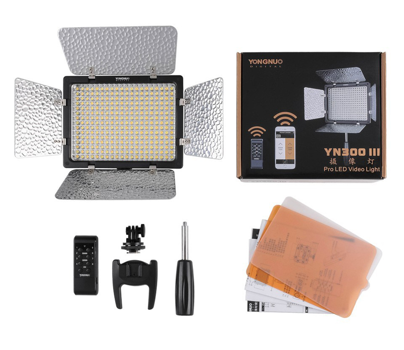 YongNuo YN300 III YN-300 lIl 3200K-5500K and 5500K Pro LED Video Light for Sony Canon Nikon Camera Camcorder внутриканальные наушники final audio design f3100 black