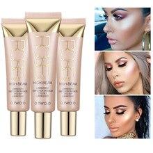 O. DOIS. O Profissional 3 Cores Highlighter Highlighter Maquiagem Corretivo Facial Brilho Brilho Líquido Adiciona radiance Anne