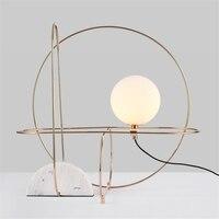 Nordic светодио дный настольные лампы современный минималистский Мрамор Гостиная светодио дный настольная лампа дизайнер модель исследовани