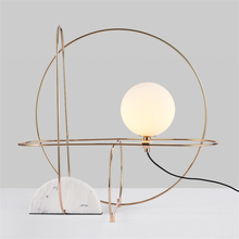 Nordic LED Table Lights Modern Minimalist Marble Living Room Lamp Designer Model Study Bedroom Bedside Desk Avize