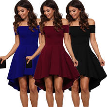 New Arrival Sexy Lady s Summer Off Shoulder Party Evening Cocktail Short  Mini Dress Royal Blue( 7f2b762fa