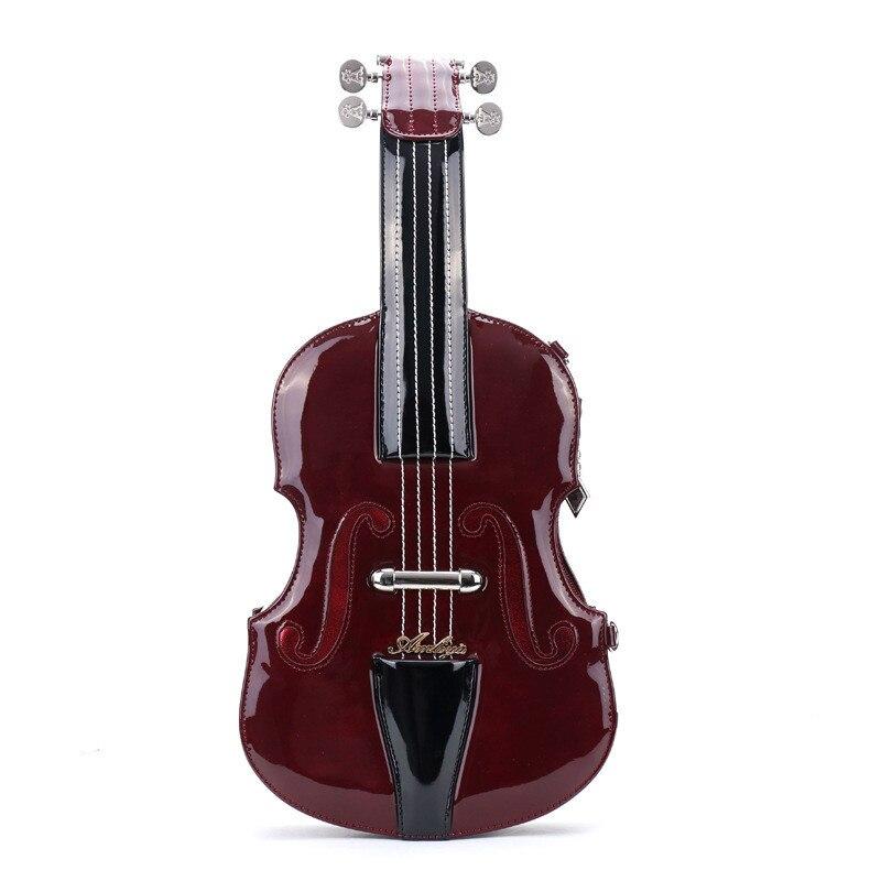 Vintage femmes sac à bandoulière porter musique sac à main bonne qualité nouveauté musicien amis amour guitare Trong violon sac 2018 nouveau