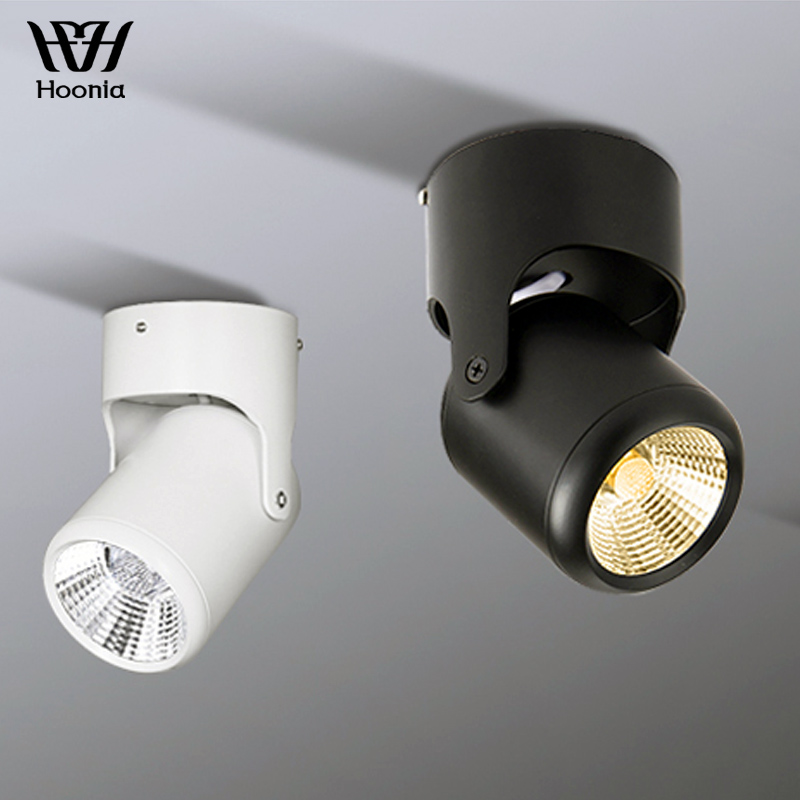 Transport gratuit 5W 7W 12W 15W COB Lumina de fund cu LED-uri de iluminat de fundal 360 de grade Rotable AC110V 220V Decorative Downlight