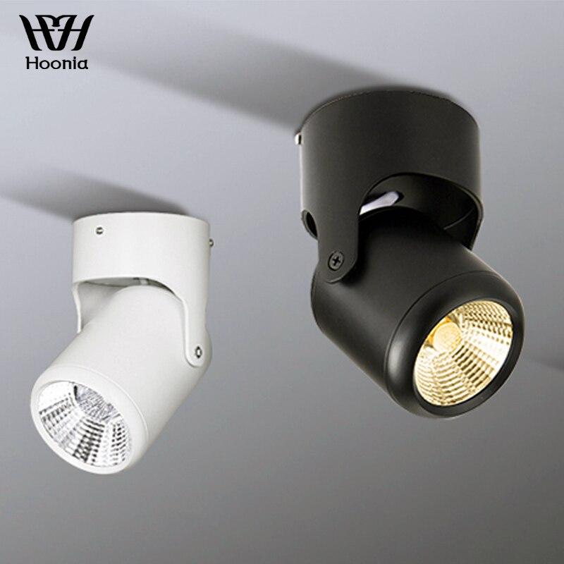 Livraison Gratuite 5 w 7 w 12 w 15 w COB Downlight Surface Monté LED Downlight 360 degrés Rotatif AC110V 220 v Spot Décoratifs