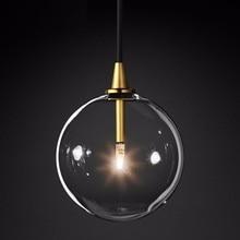 Lukloy bolha moderna clara bola de vidro pingente luz do vintage loft cozinha ilha sala estar cabeceira simples retro lâmpada suspensão