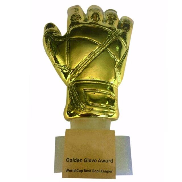 d5dbc03fe4612 31 cm de Altura Ouro Bola De Futebol Luvas de Goleiro de Futebol Prêmio  Troféu da