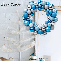 2018 Christmas 55 Balls Wreath Door Wall Ornament Garland Decoration Tree Ornaments Home Decor Christmas Decorations